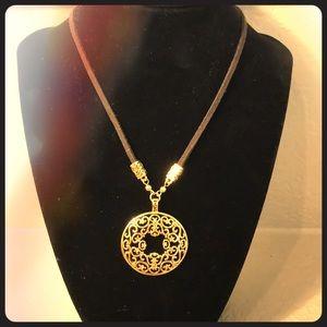 282d5c01602a5 Lia Sophia Gold Suede Necklace